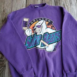Vtg 90s Orlando Solar Bears Sweater Size XL 7 Logo